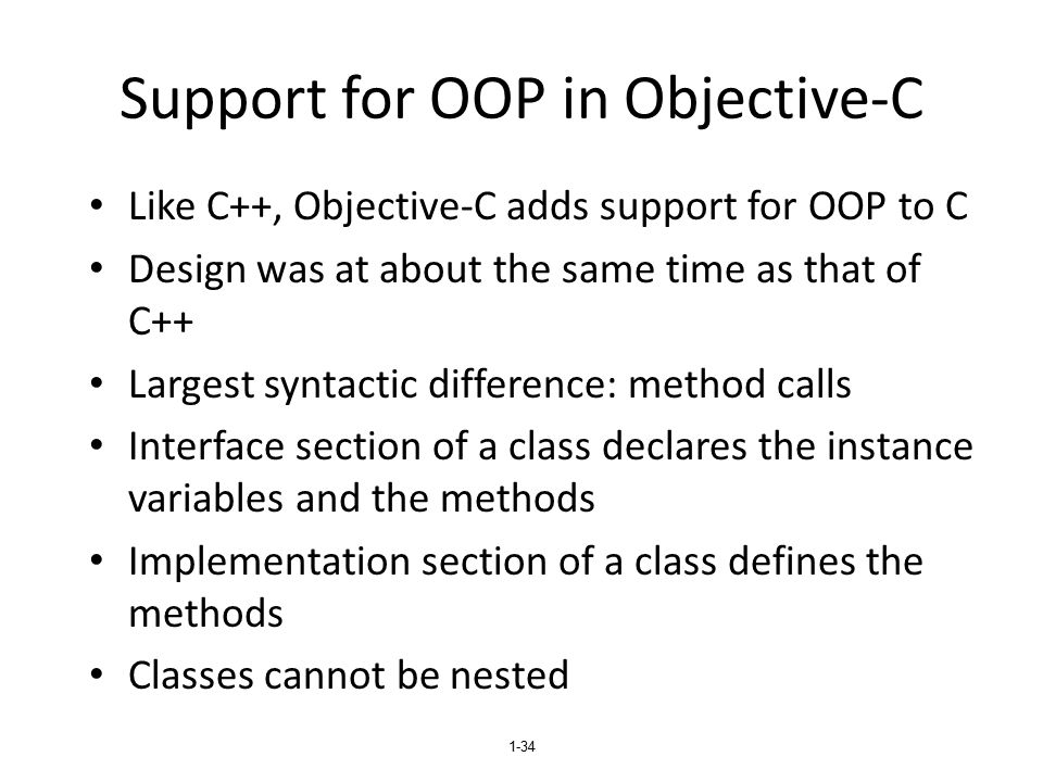 Support for OOP in Objective-C