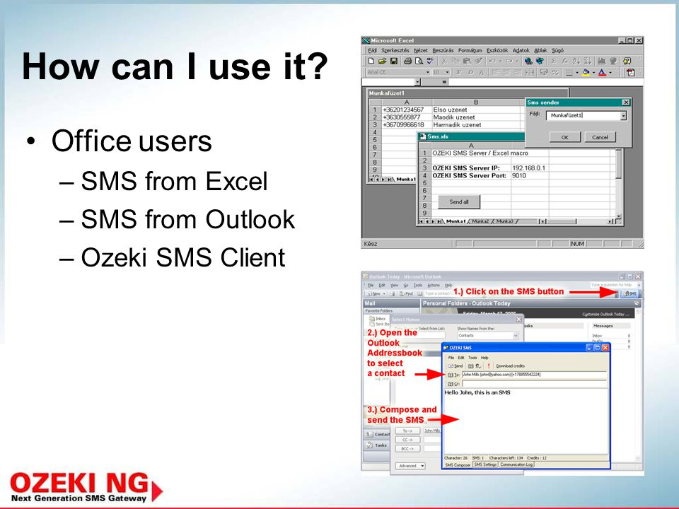 Take advantage of the SMS technology in your organization