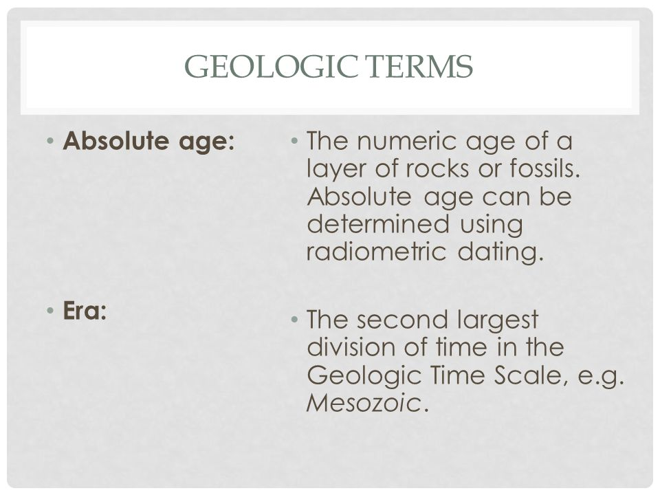 how does radiometric dating differ from the ages of the geologic time scale