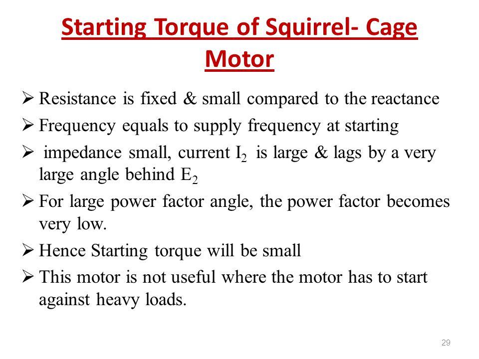 Starting Torque of Squirrel- Cage Motor
