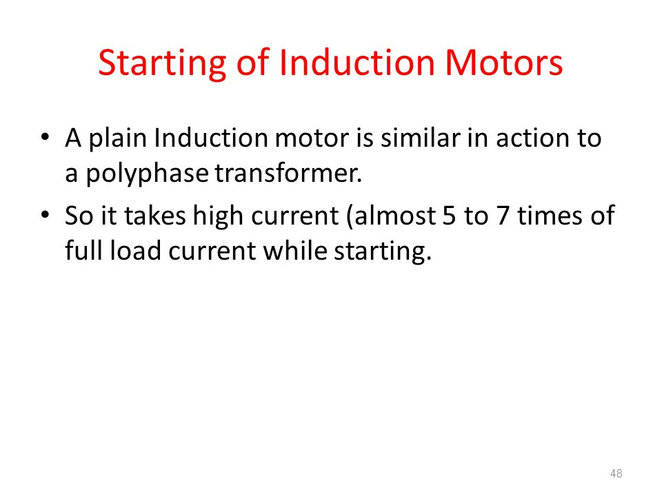 starting current of induction motor pdf