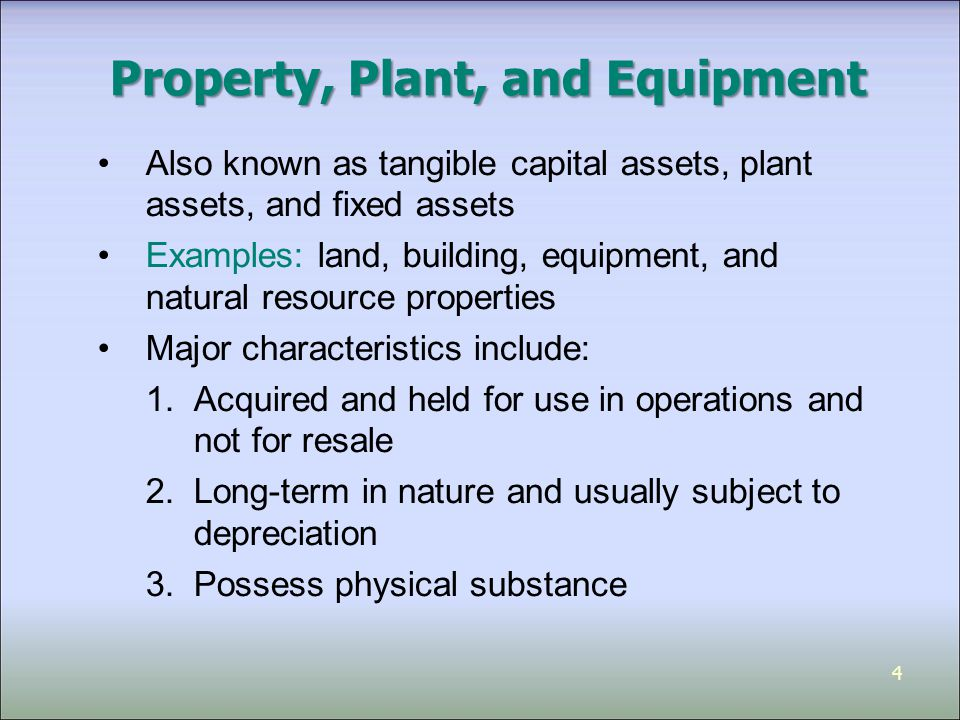 capital equipment examples