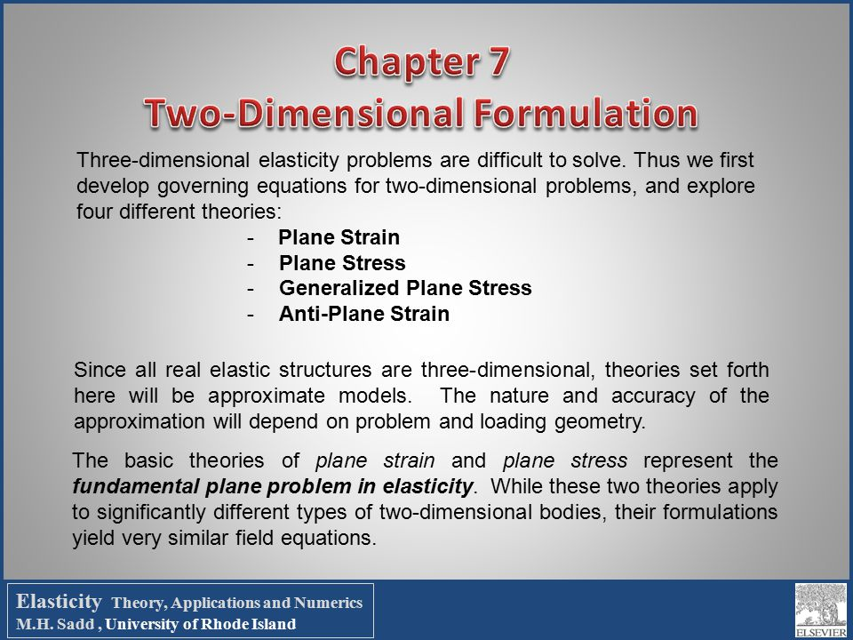 Chapter 7 Two Dimensional Formulation Ppt Download