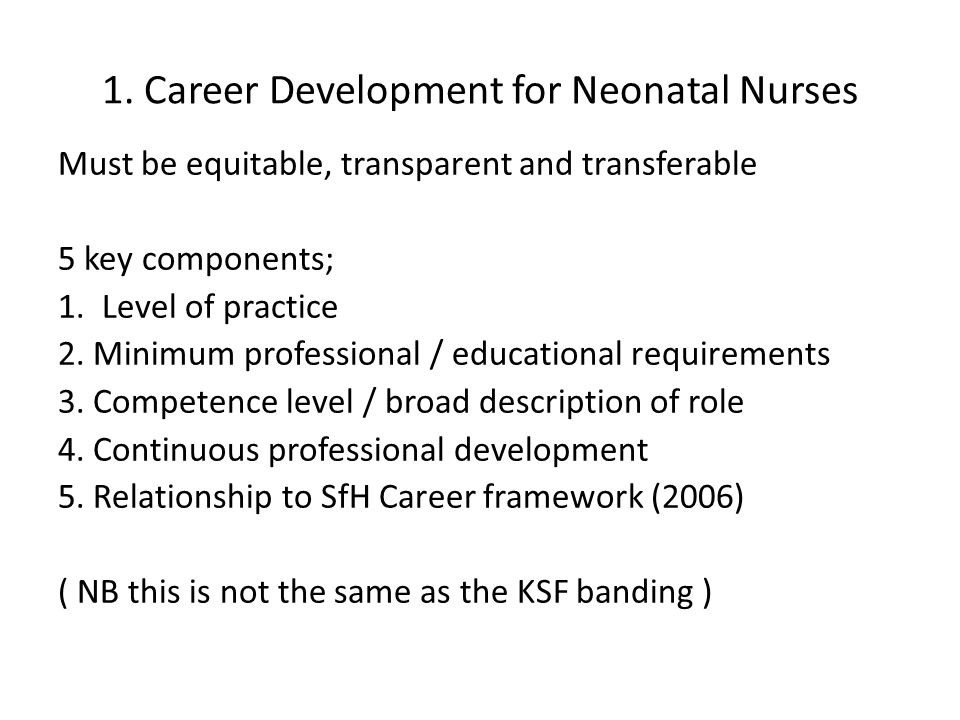 Competence Education And Careers In Neonatal Nursing Rcn Guidance