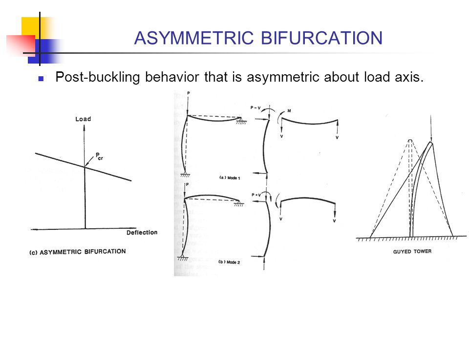ASYMMETRIC BIFURCATION