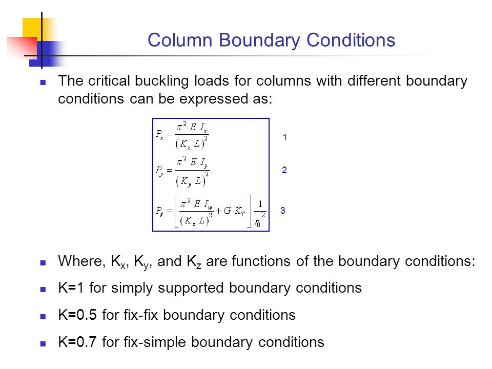 Column Boundary Conditions
