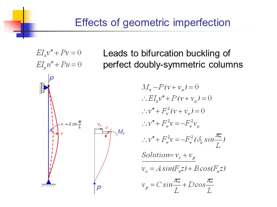 Effects of geometric imperfection