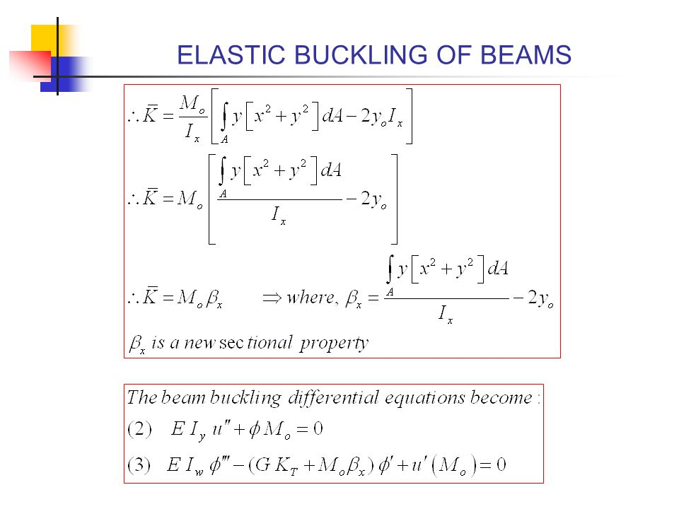 ELASTIC BUCKLING OF BEAMS