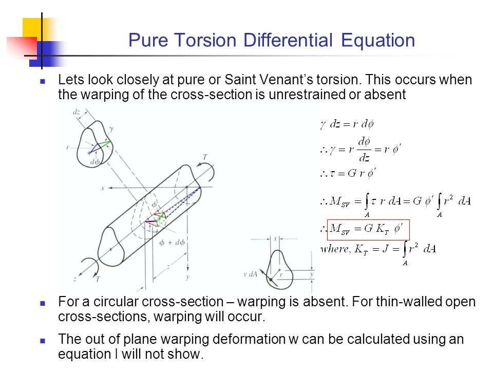 Pure Torsion Differential Equation