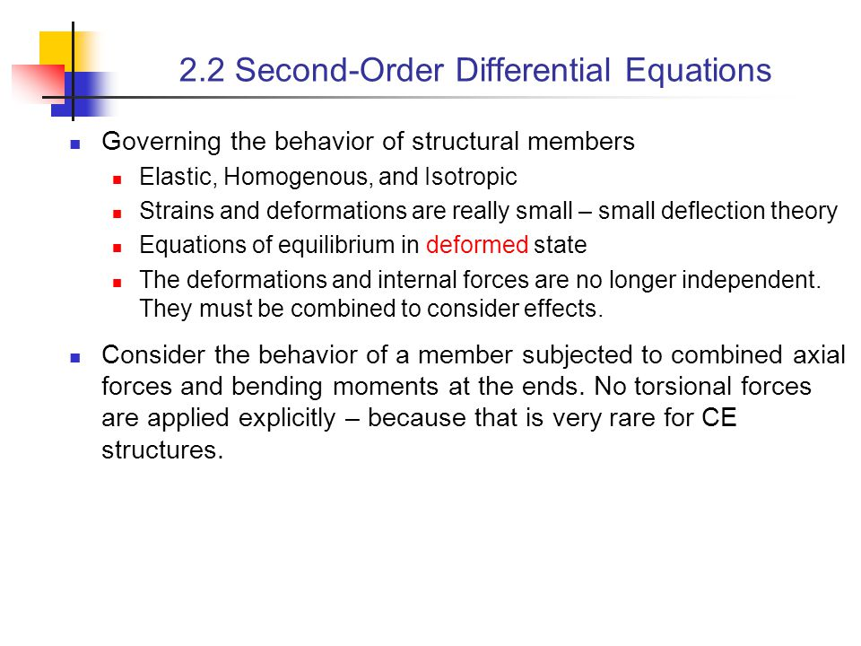 2.2 Second-Order Differential Equations