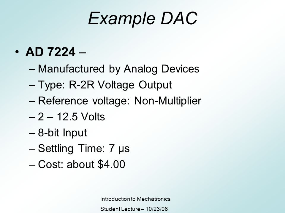 Digital To Analog Converters Ppt Download