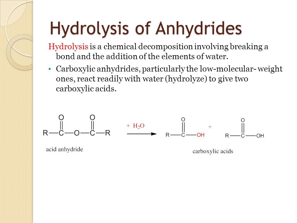 Chapter 11 Carboxylic Anhydrides, Esters, and Amides - ppt