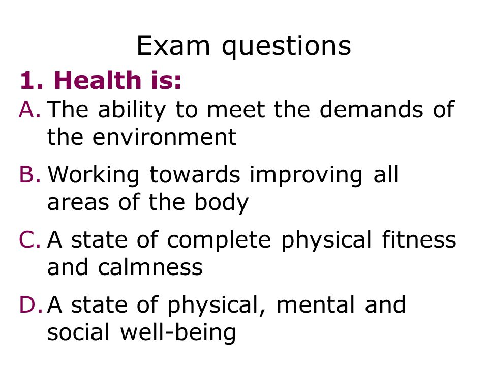 Health, fitness and exercise - ppt video online download
