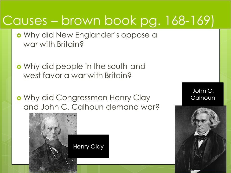 Causes – brown book pg )