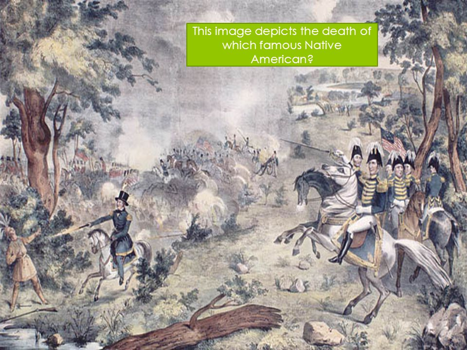 This image depicts the death of which famous Native American
