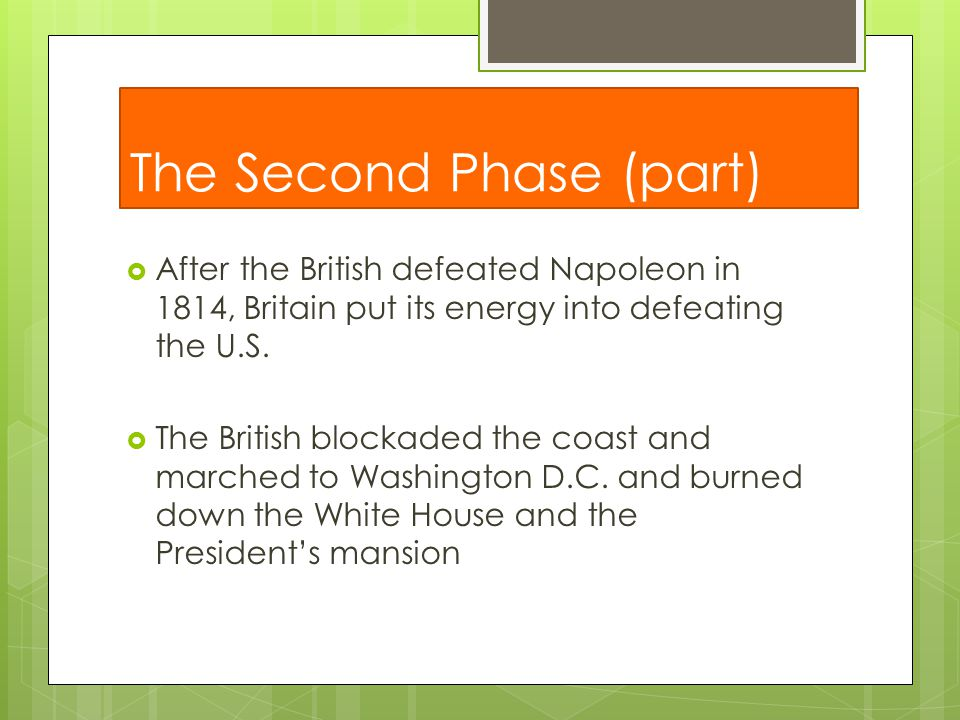 The Second Phase (part)