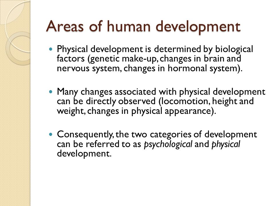 Areas of human development