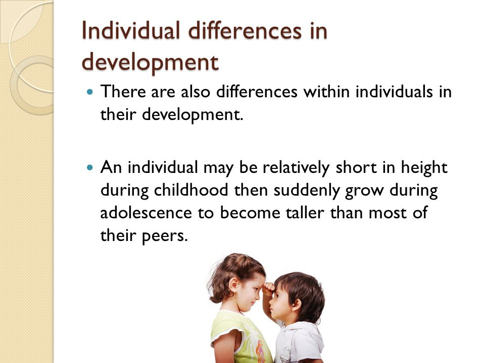 Individual differences in development