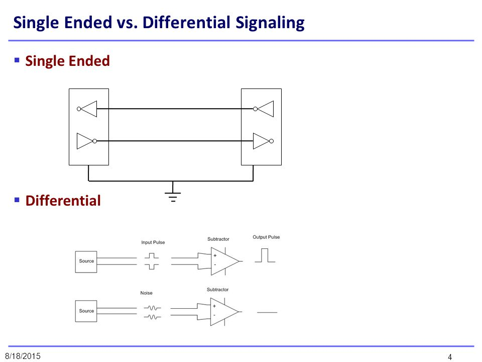 single ended vs differential
