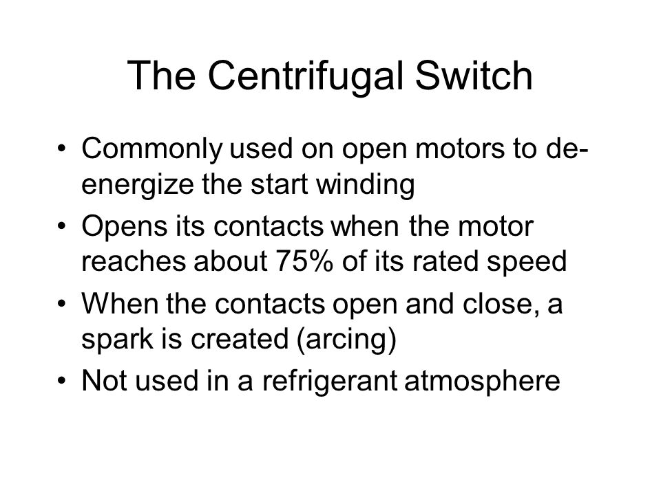 The Centrifugal Switch