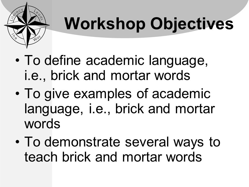 academic language brick and mortar words