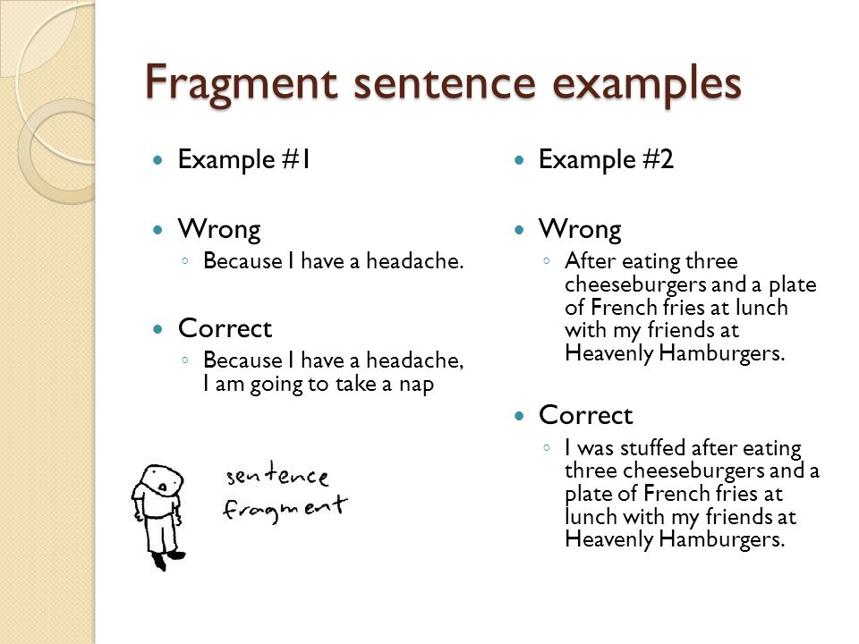What is a sentence fragment? Definition, examples of sentence.