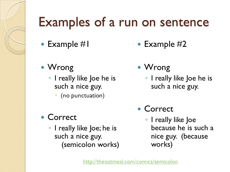 bad sentences examples