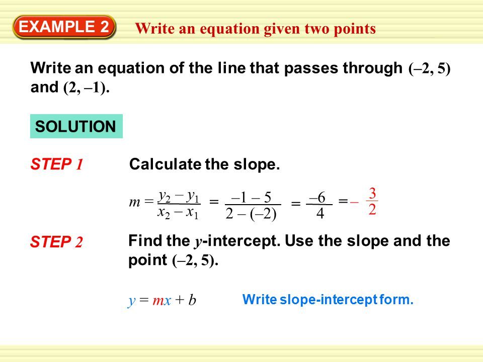Write An Equation Given Two Points Ppt Download