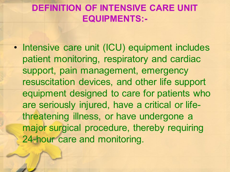CONCEPT OF CRITICAL CARE - ppt download