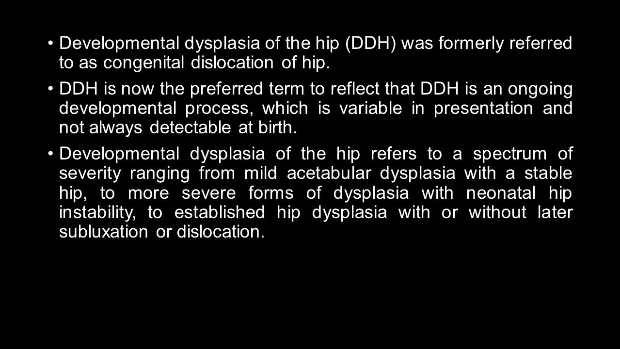 Hip joint, ultrasound: norm in newborns