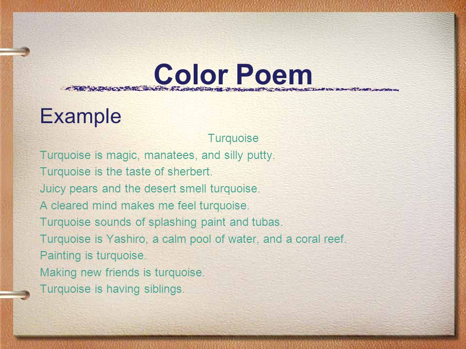 Color poems examples.