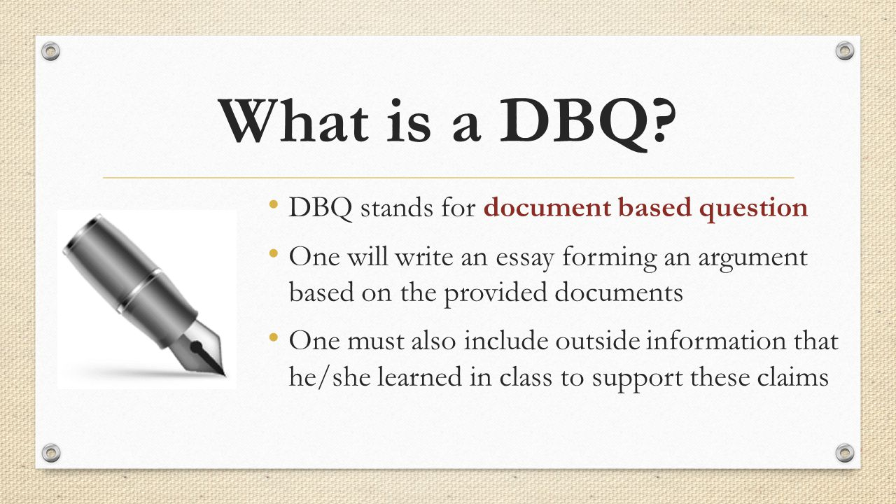 dbq social studies essay Dbq essay rubric author: dowling last modified by: master created date: 11/29/2006 5:58:00 pm other titles: dbq essay rubric.