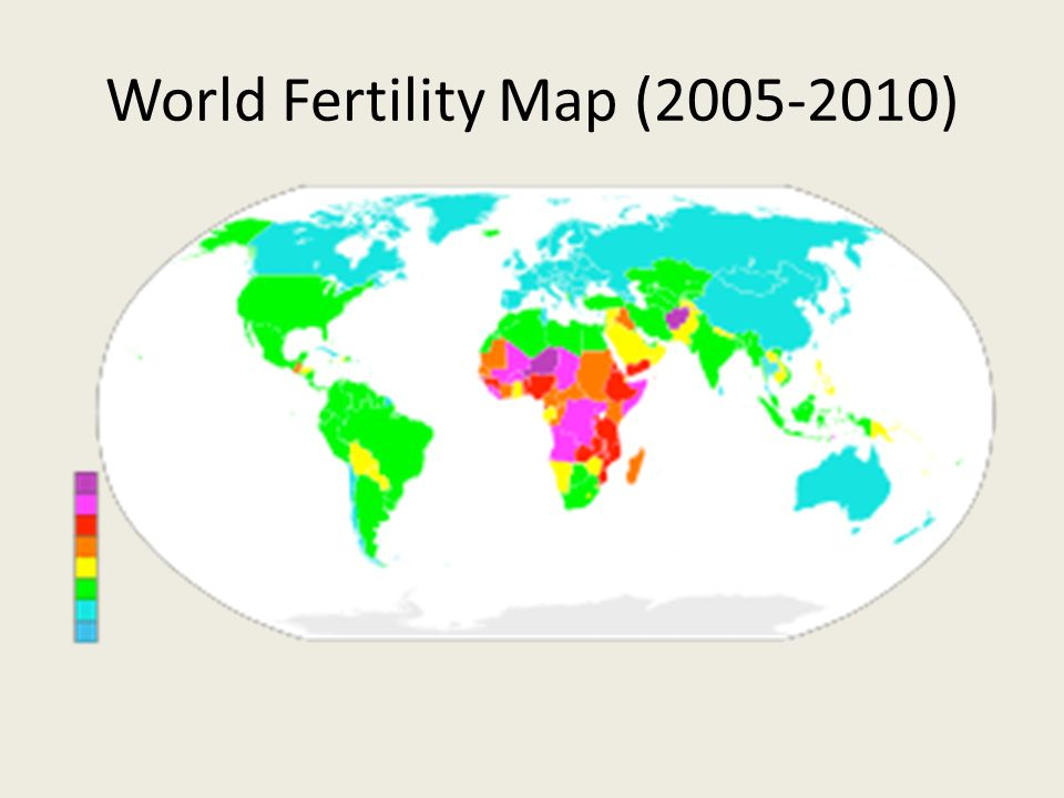 World Fertility Map ( )