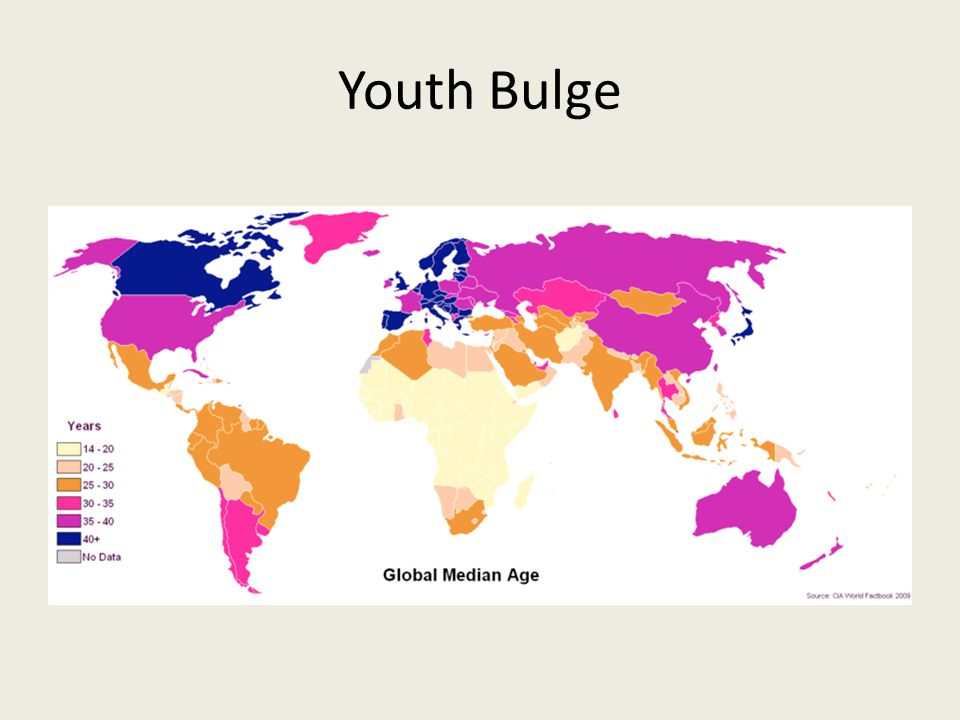 Youth Bulge What are some of the challenges faced by countries who have a youth bulge in their population