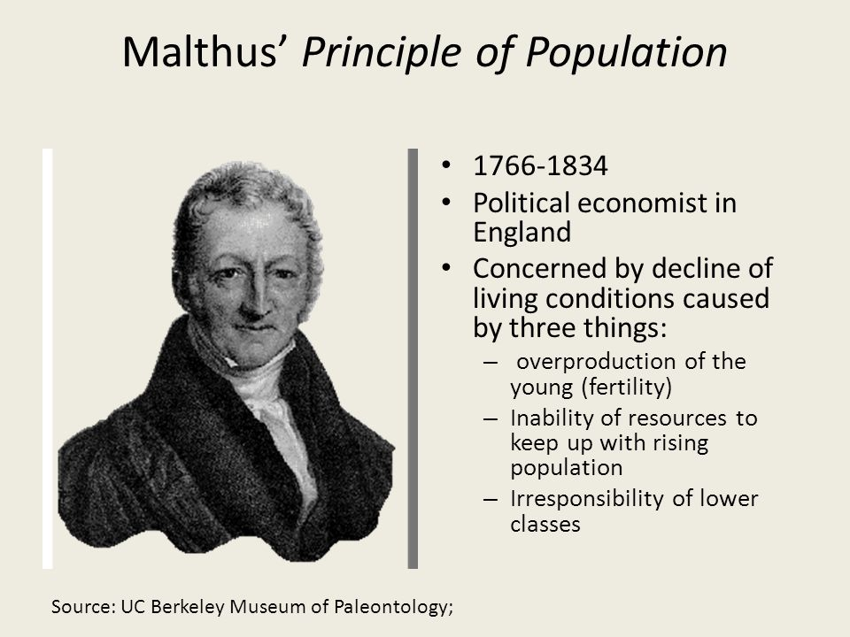Malthus' Principle of Population
