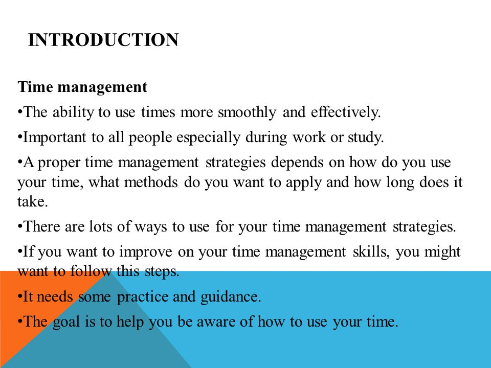 Introduction Time Management Ppt Video Online Download