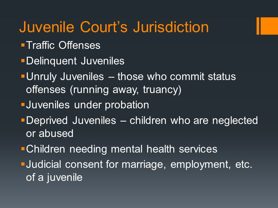 Juvenile Court's Jurisdiction