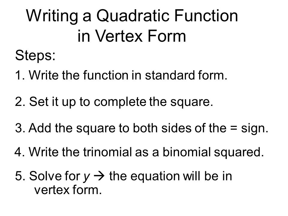 How To Write Equation In Vertex Form Choice Image Free Form Design