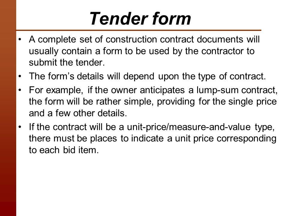 Lec PreConstruction Phase Ppt Download - Lump sum contract template