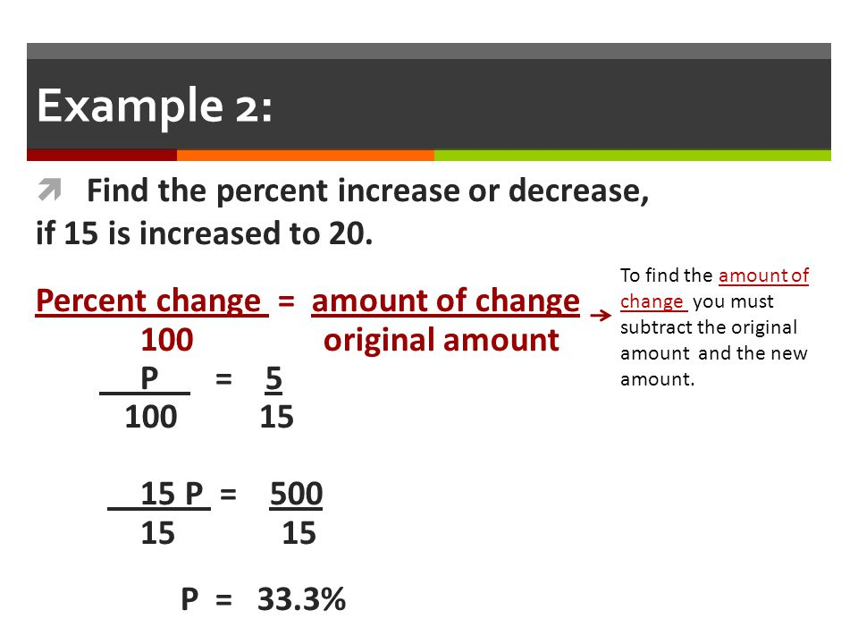 Percent change - Coursework Sample