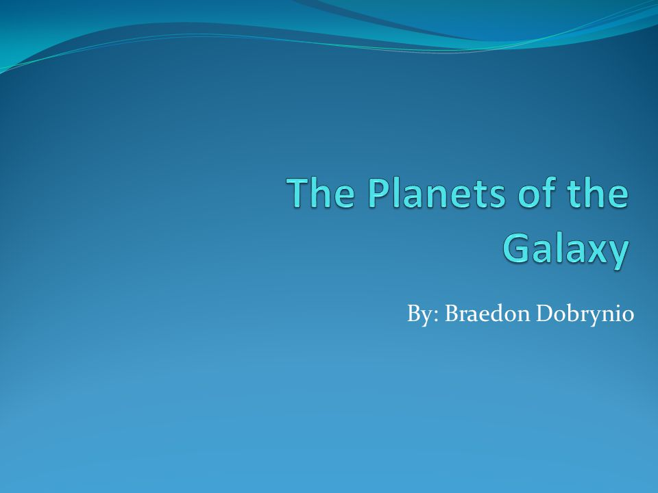 The Planets of the Galaxy