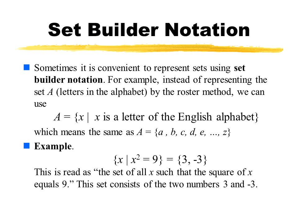 Set-builder notation youtube.