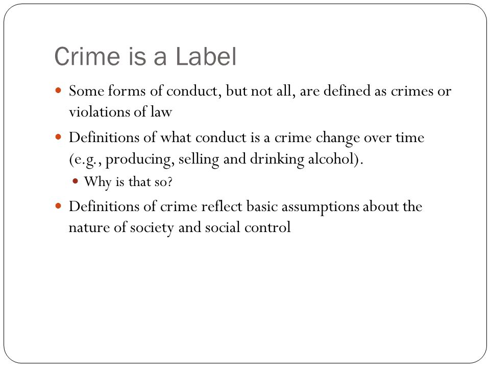 how does society define crime