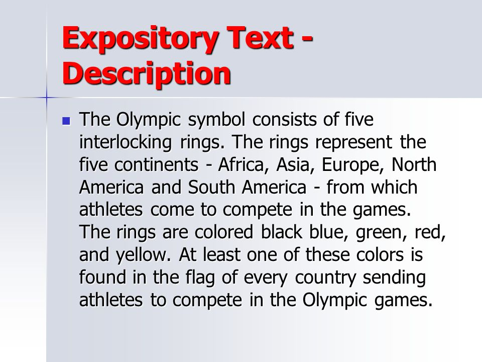 Expository Text - Description