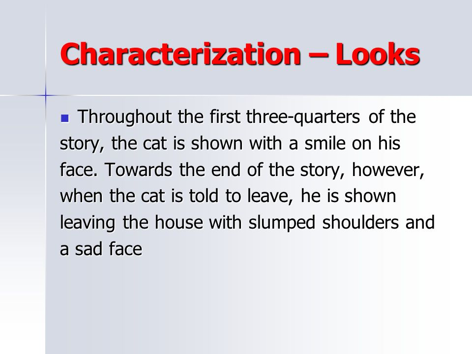 Characterization – Looks