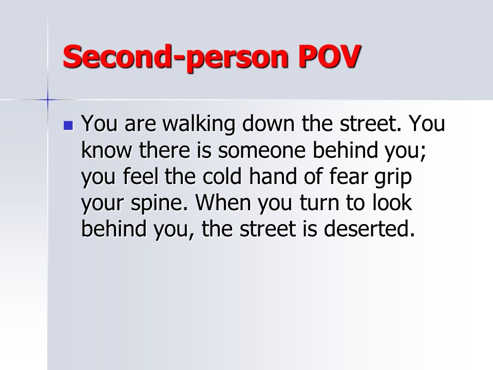 Second-person POV