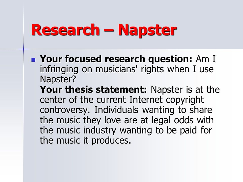 Research – Napster