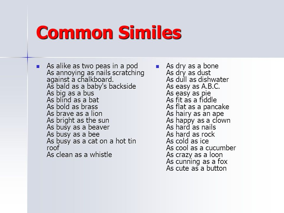 Common Similes