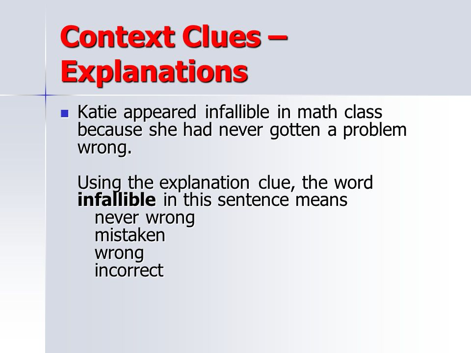 Context Clues – Explanations