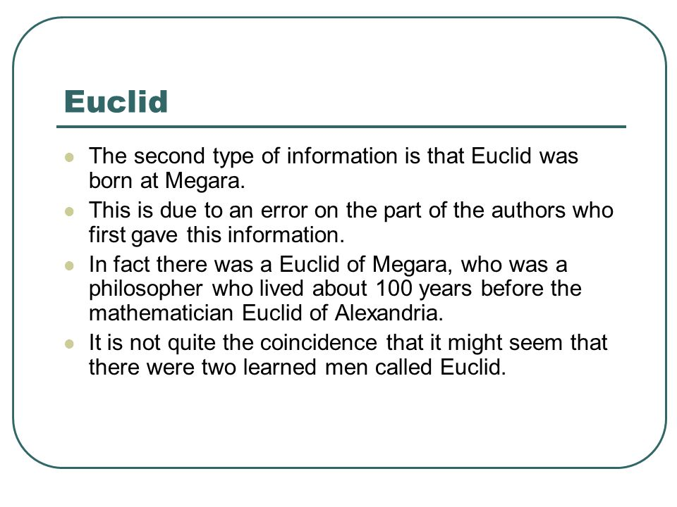 euclid mathematician biography